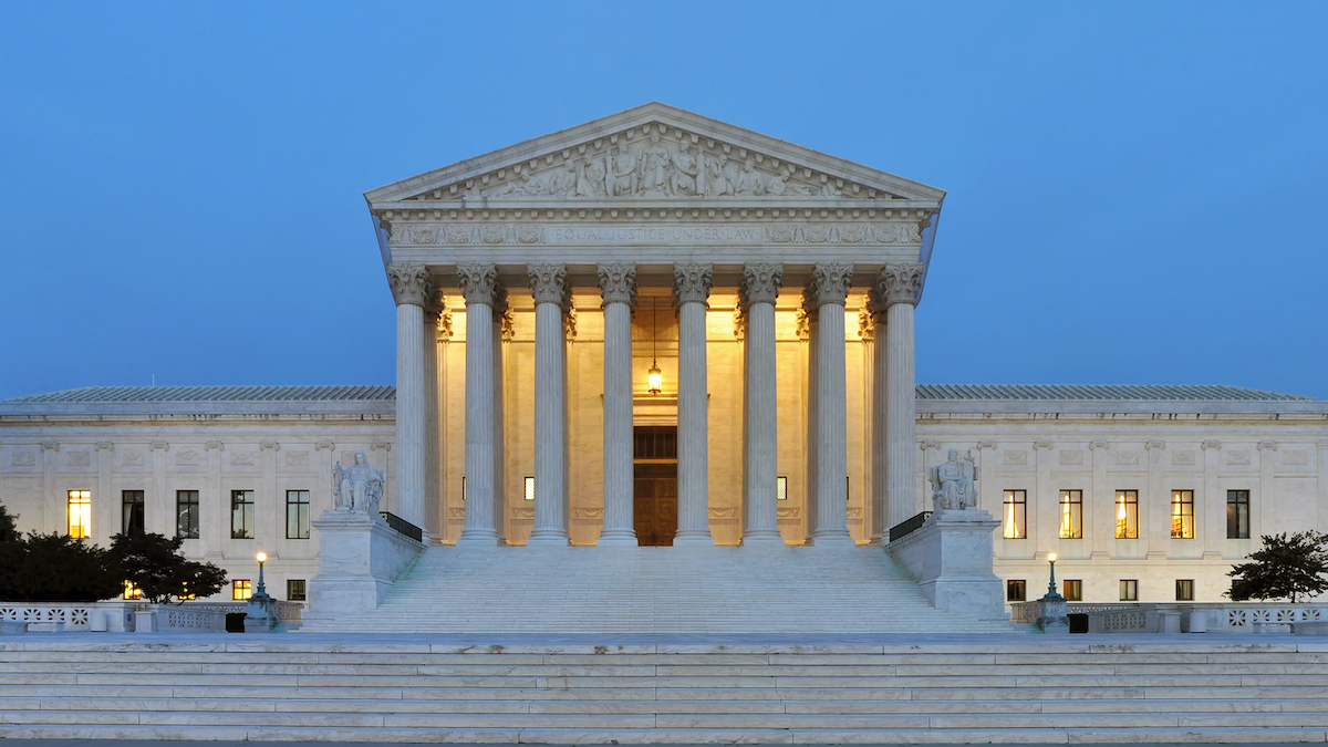The United States Supreme Court building and steps.