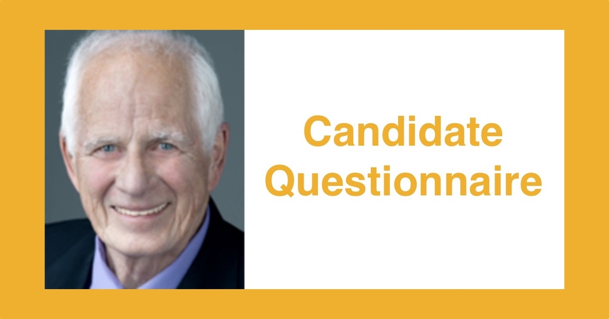 Headshot of Bob Walsh. Text: Candidate Questionnaire