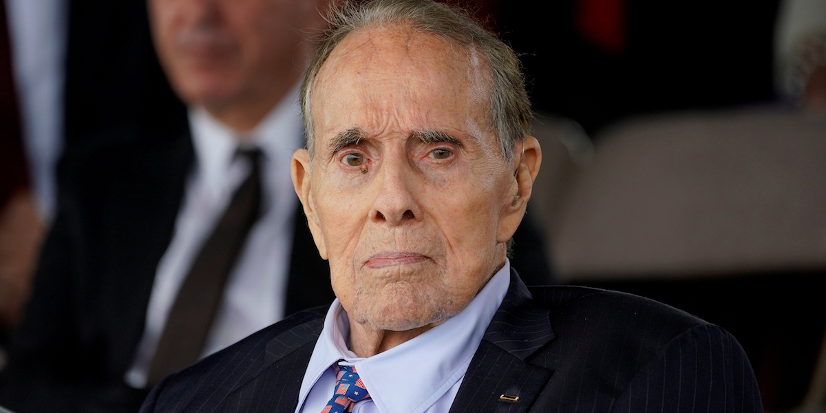 Bob Dole attends a welcome ceremony in honor of new Joint Chiefs of Staff Chairman Army General Mark Milley at Joint Base Myer-Henderson Hall, Va, on Sept. 30, 2019.